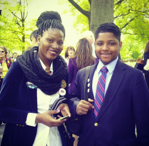 Zainab and Senque at the White House Science Fair