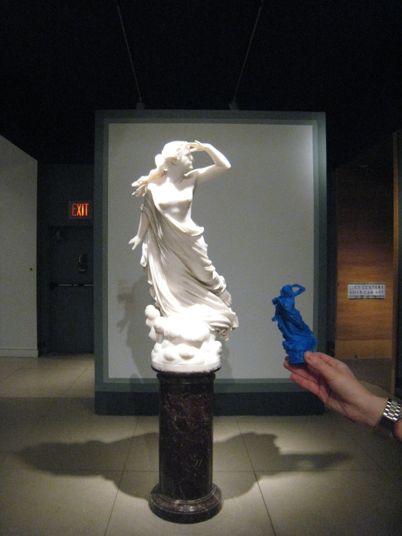 "Randolph Rogers' ""The Lost Pleiad"" and her 3d-printed counterpart, Brooklyn Museum."